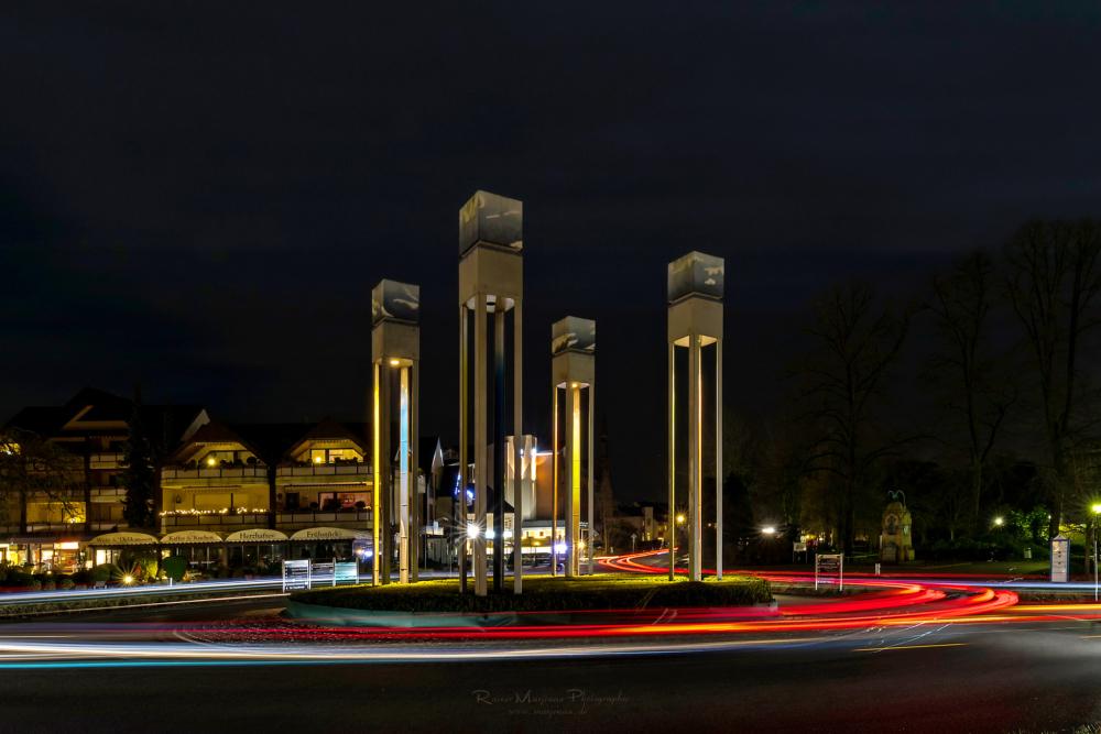 Kreisverkehr Bad Rothenfelde, Langzeitbelichtung
