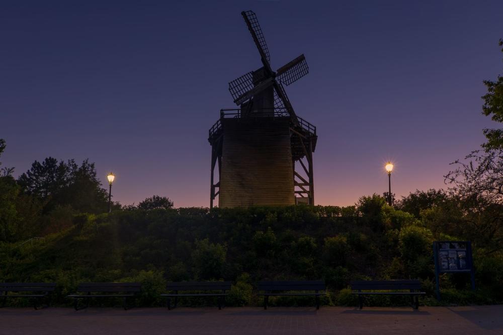 Windmühle auf dem Neuen Gradierwerk