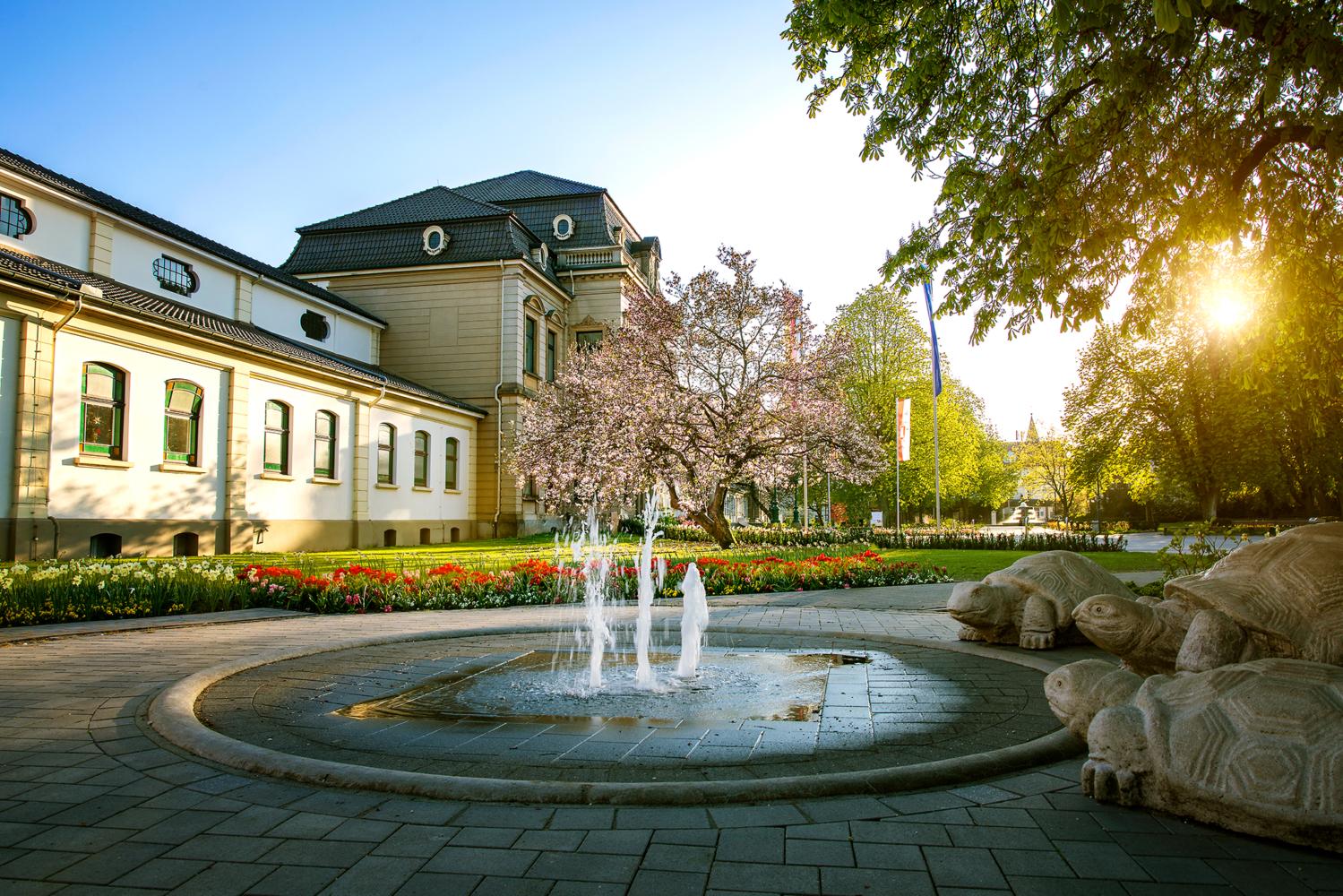 Springbrunnen am Kurmittelhaus