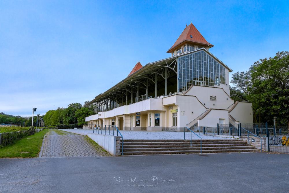 Leipzig Tribüne Gallopprennbahn Scheibenholz